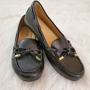 Michael Kors Size 6 Black Leather Loafers